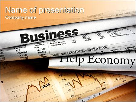 Шаблон презентации Финансовые новости - Титульный слайд