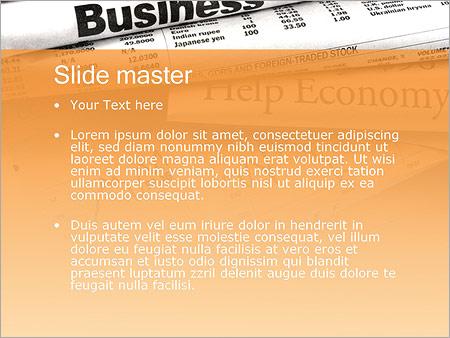 Шаблон PowerPoint Финансовые новости - Второй слайд