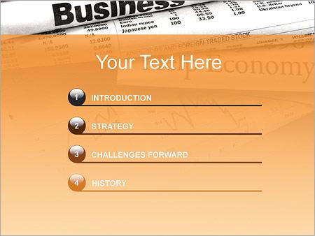 Шаблон для презентации Финансовые новости - Третий слайд