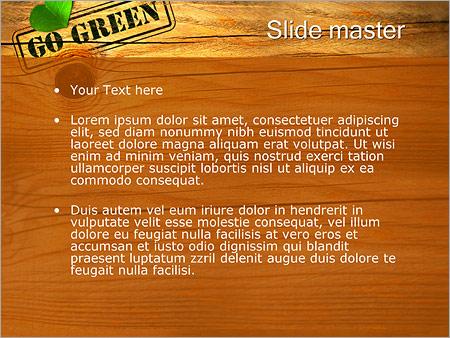 Шаблон PowerPoint Деревянный стол - Второй слайд