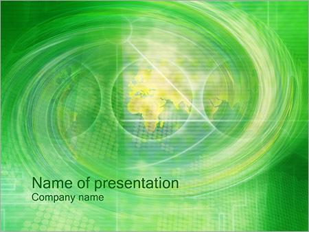 Шаблон презентации Зеленый водоворот - Титульный слайд
