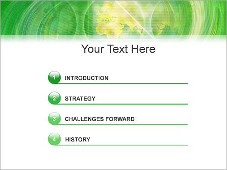 Шаблон для презентации Зеленый водоворот - Третий слайд