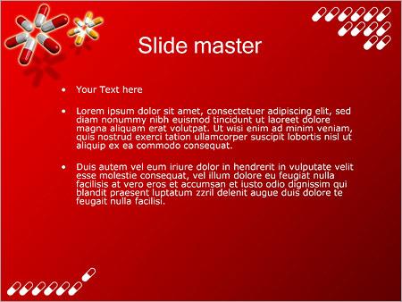 Шаблон PowerPoint Таблетки капсулы - Второй слайд