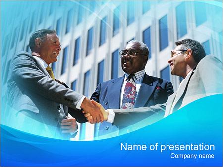 Шаблон презентации Деловое партнерство - Титульный слайд