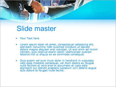 Шаблон PowerPoint Деловое партнерство - Второй слайд