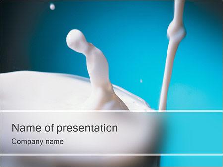 Шаблон презентации Молоко - Титульный слайд