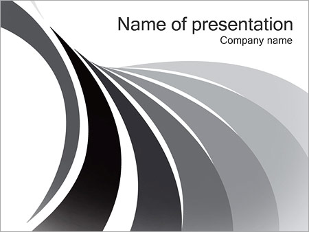 Шаблон презентации Серые линии - Титульный слайд