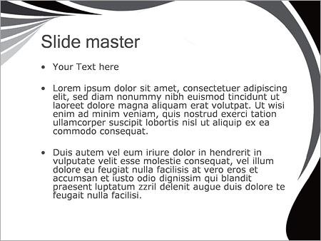Шаблон PowerPoint Серые линии - Второй слайд
