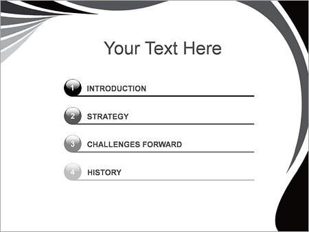 Шаблон для презентации Серые линии - Третий слайд