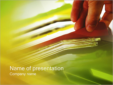 Шаблон презентации Отчеты - Титульный слайд
