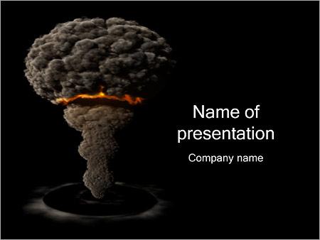 Шаблон презентации Атомная бомба - Титульный слайд