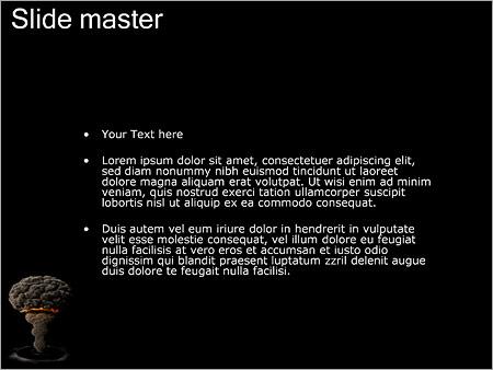 Шаблон PowerPoint Атомная бомба - Второй слайд
