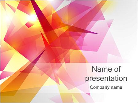 Шаблон презентации Абстрактные плоские многоугольники - Титульный слайд