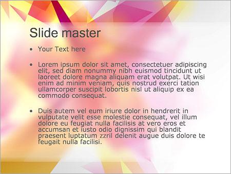 Шаблон PowerPoint Абстрактные плоские многоугольники - Второй слайд