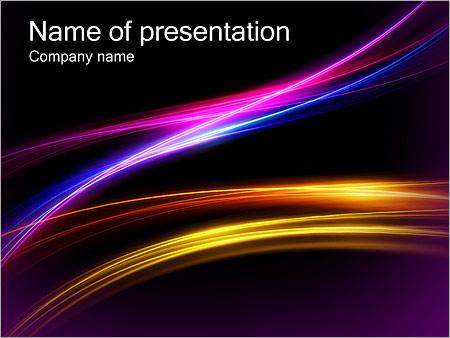 Шаблон презентации Сияющие линии - Титульный слайд
