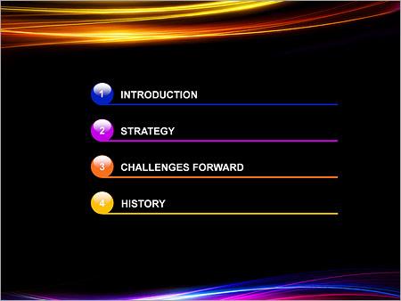 Шаблон для презентации Сияющие линии - Третий слайд
