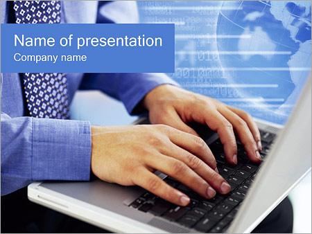 Шаблон презентации Портативный компьютер - Титульный слайд
