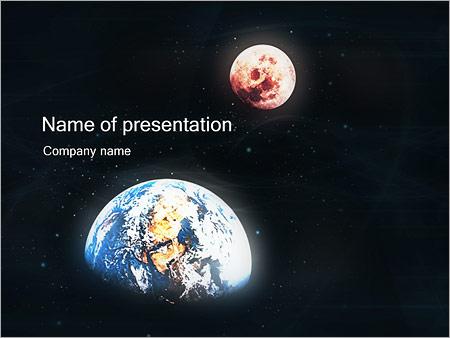 Шаблон презентации Земля и Марс - Титульный слайд