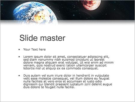 Шаблон PowerPoint Земля и Марс - Второй слайд