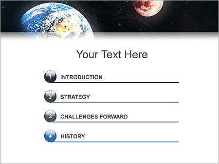 Шаблон для презентации Земля и Марс - Третий слайд