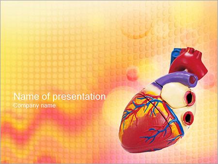 Шаблон презентации Модель человеческого сердца - Титульный слайд