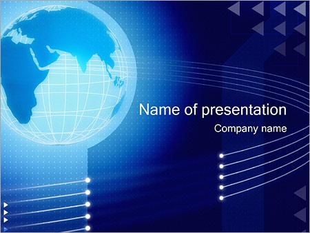 Шаблон презентации Синий земной шар - Титульный слайд