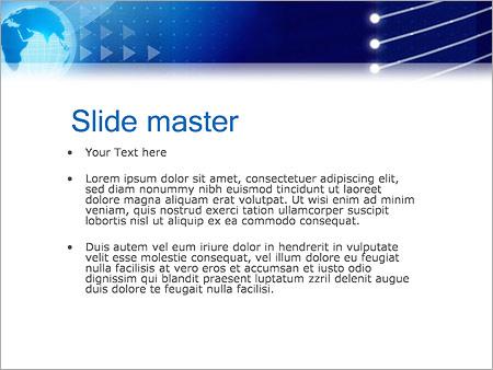 Шаблон PowerPoint Синий земной шар - Второй слайд