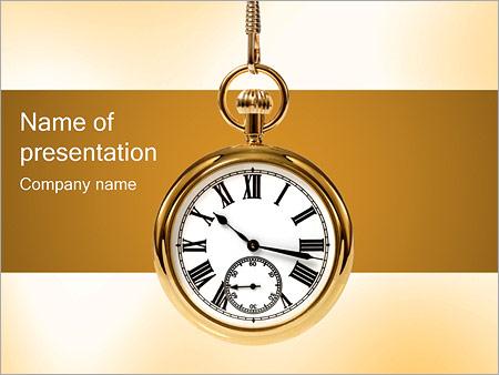 Шаблон презентации Карманные часы - Титульный слайд