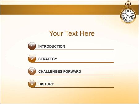 Шаблон для презентации Карманные часы - Третий слайд