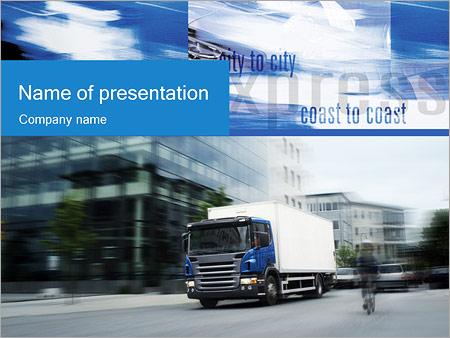 Шаблон презентации Транспортные услуги - Титульный слайд