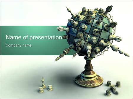 Шаблон презентации Шахматный глобус - Титульный слайд