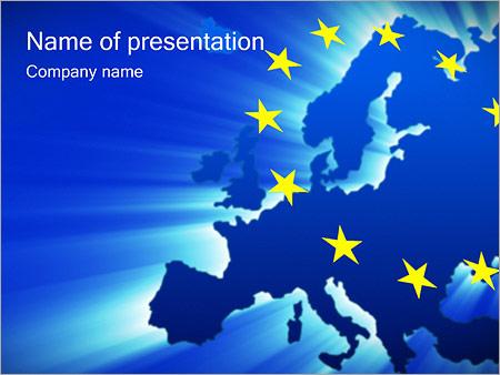 Шаблон презентации Европейский союз - Титульный слайд
