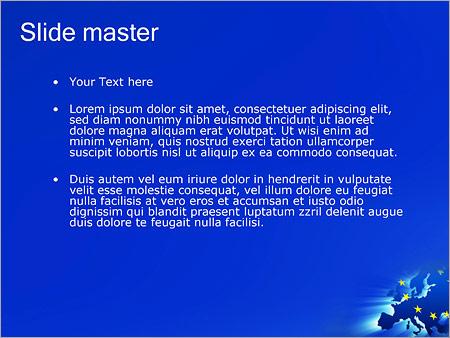 Шаблон PowerPoint Европейский союз - Второй слайд