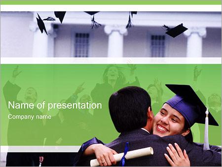 Шаблон презентации Вручение диплома - Титульный слайд