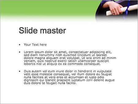 Шаблон PowerPoint Вручение диплома - Второй слайд