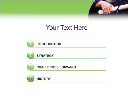 Шаблон для презентации Вручение диплома - Третий слайд