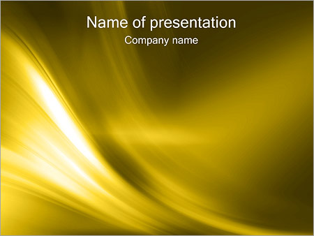 Шаблон презентации Золото - Титульный слайд