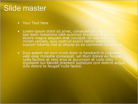 Шаблон PowerPoint Золото - Второй слайд