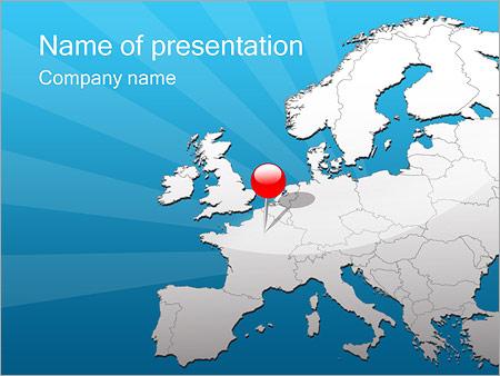 Шаблон презентации Путешествие в Европу - Титульный слайд