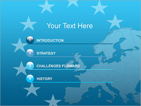 Шаблон для презентации Путешествие в Европу - Третий слайд
