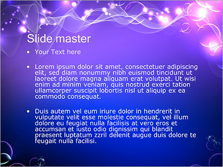 Шаблон PowerPoint Эквалайзер - Второй слайд