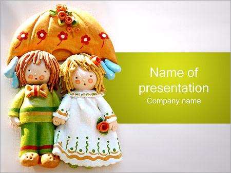 Шаблон презентации Куклы - Титульный слайд