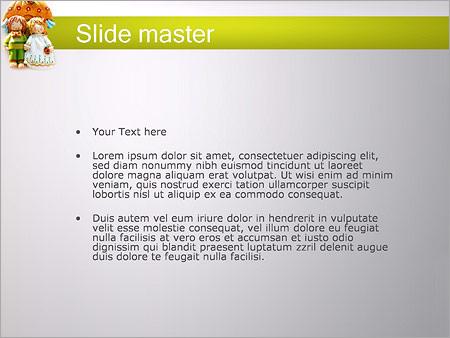 Шаблон PowerPoint Куклы - Второй слайд