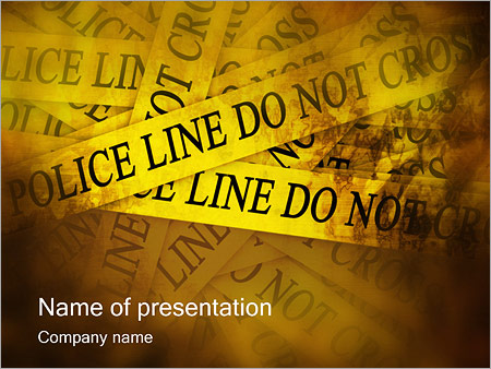 Шаблон презентации Лента проход запрещен - Титульный слайд