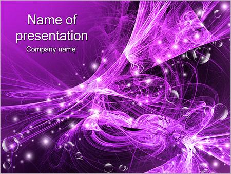 Шаблон презентации Фиолетовая абстракция - Титульный слайд