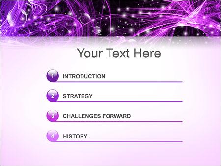 Шаблон для презентации Фиолетовая абстракция - Третий слайд