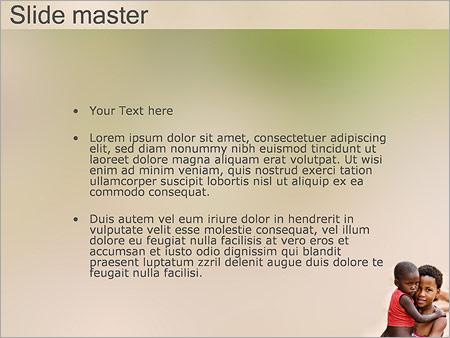 Шаблон PowerPoint Африканские дети - Второй слайд