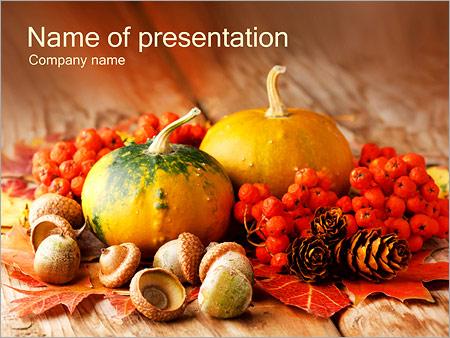 Шаблон презентации Деревенские овощи и ягоды - Титульный слайд