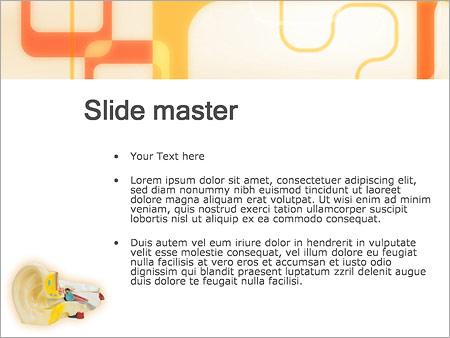 Шаблон PowerPoint Медицинская модель уха - Второй слайд