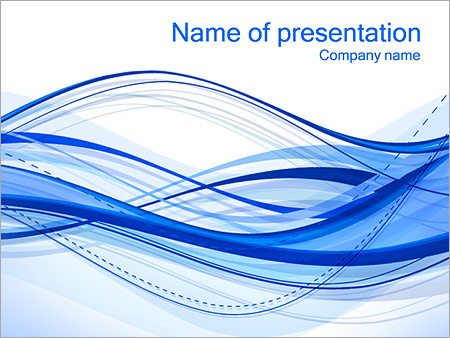 Шаблон презентации Абстрактные синие волны - Титульный слайд